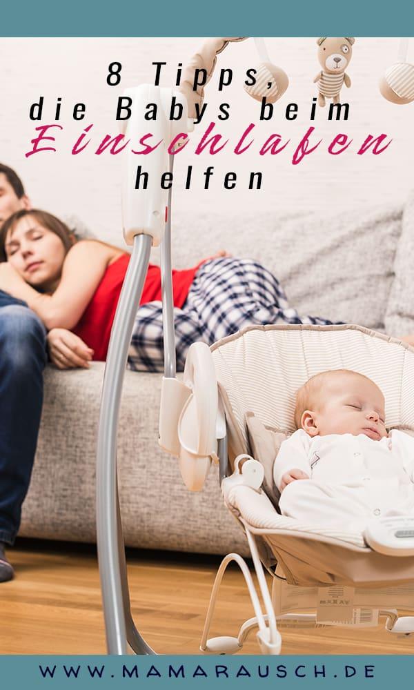 Hilfe mein Baby kann nicht Einschlafen! In diesem Artikel gibt es 8 Tipps wie du deinem Baby beim Einschlafen helfen kannst.