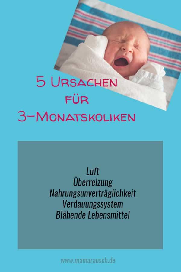 3 Monatskoliken – für das eine Baby gibt es nur hin und wieder mal ein bisschen Bauchweh, andere Babys quälen sich viele Wochen mit regelmäßigen Bauchschmerzen, die für die Eltern als Schreiattacken sichtbar bzw. hörbar werden.
