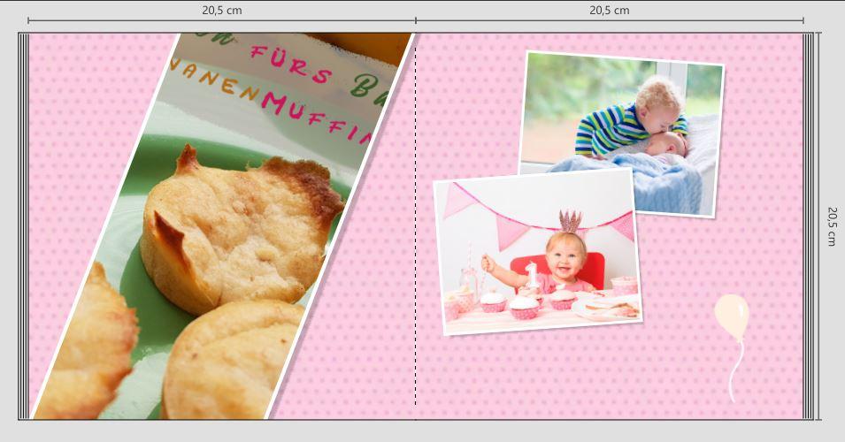 Wie erstelle ich ein Fotobuch? Fotobuch erstellen und gestalten: Hier eine Doppelseite im Fotobuch, die so natürlich nicht in den Druck ging. Fotobuch gestalten Tipps und Ideen durch ausprobieren.
