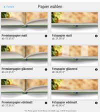 Wie erstelle ich ein Fotobuch? Die Papier Auswahl