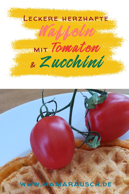 Herzhaftes Waffelteigrezept mit Tomaten und Zucchini - gut gewürzt oder als Babyvariante der perfekte Snack oder die leckere Zwischenmahlzeit mit Dip!