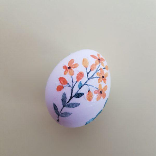 Ostereier verzieren mit Serviettentechnik - Auswahl einzelner Motive - Blüte