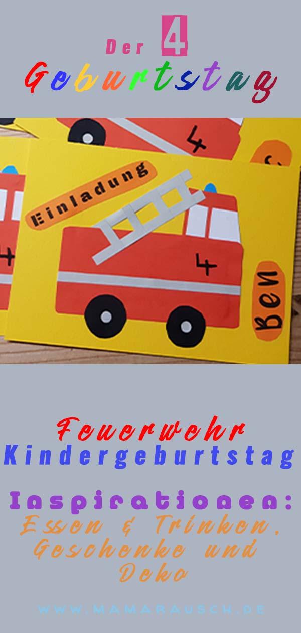 4 Geburtstag Feuerwehr Kindergeburtstag Ideen