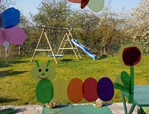 Fensterbild Sommer basteln mit Kindern