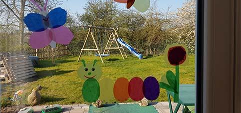 Sommerliches Fensterbild Basteln Mit Kindern Mama Rausch