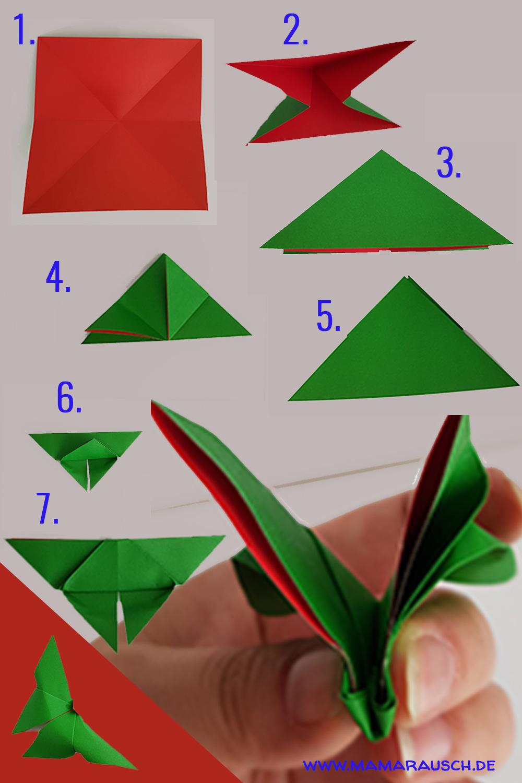 Schmetterlinge Origami einfach mit Anleitung | Mama Rausch