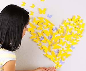 Schmetterlinge Wanddeko selber machen