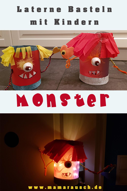 Monster Laterne selber basteln mit Kindern
