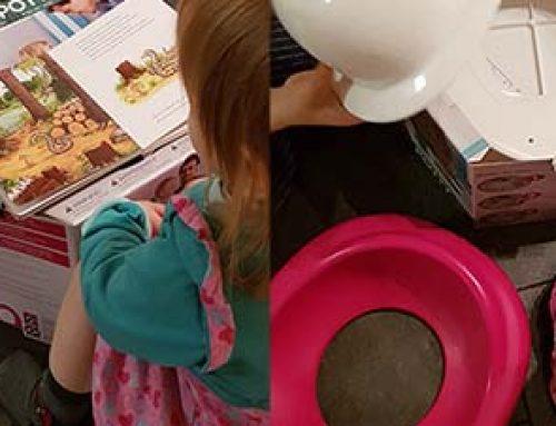 Trocken werden mit dem Bumbo step 'n potty