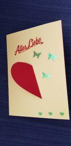 DiY Karte   Muttertag   Valentinstag   Liebesgrüße