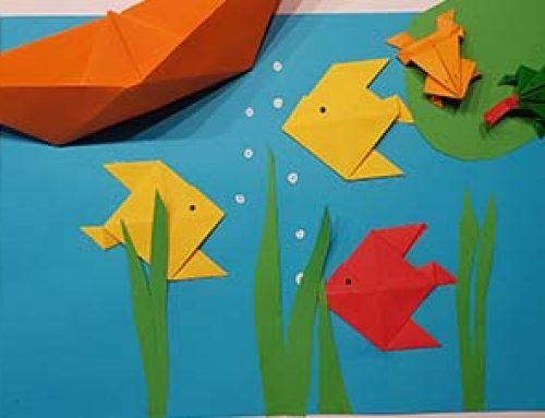 Papier falten mit Kindern