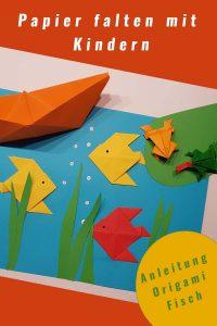 Papier falten mit Kindern - Anleitung Papiere