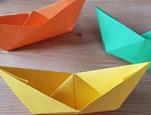 Schiff aus Papier falten