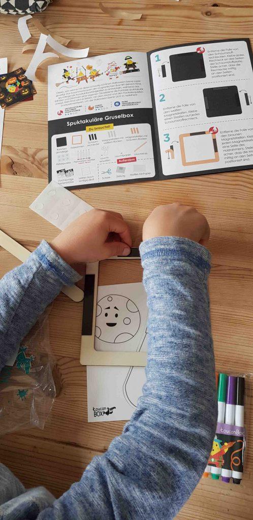 Halloween Bastelprojekt für Kinder toucanBox