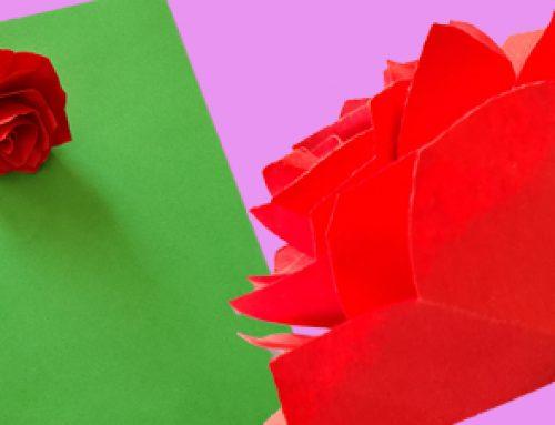 Blumen basteln aus Papier [Anleitung]
