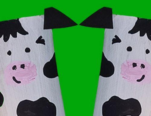 Kühe aus Klopapierrollen basteln