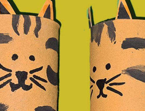 Tiger aus Klopapierrollen basteln