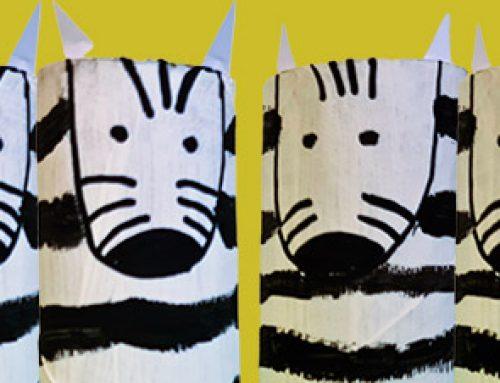Zebras aus Klopapierrollen basteln