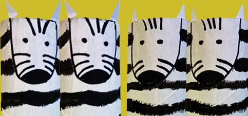 Bastelidee Zebras aus Klopapierrollen Basteln mit Kindern
