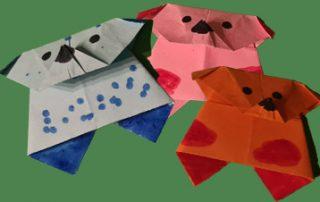 Origami Hunde falten