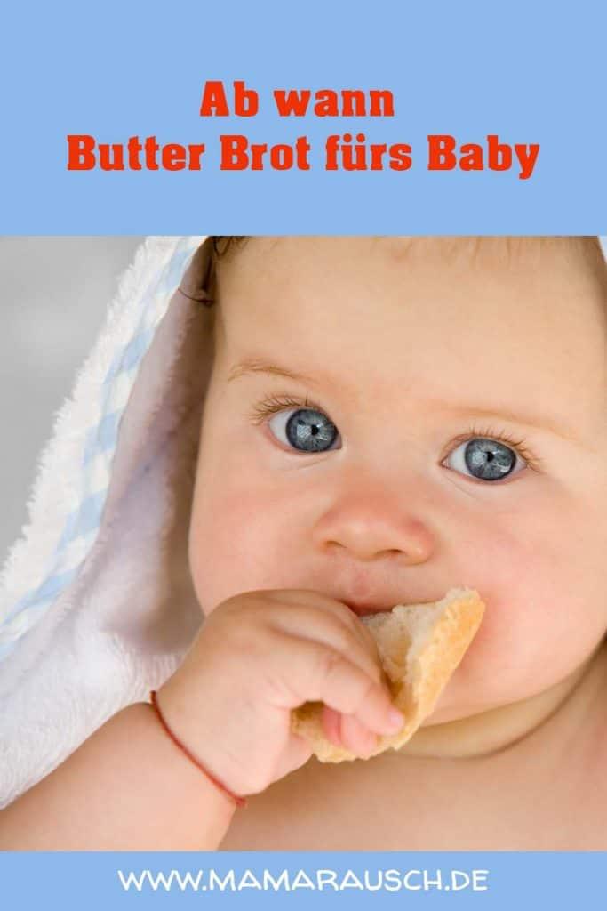 Ab wann Butter Brot fürs Baby