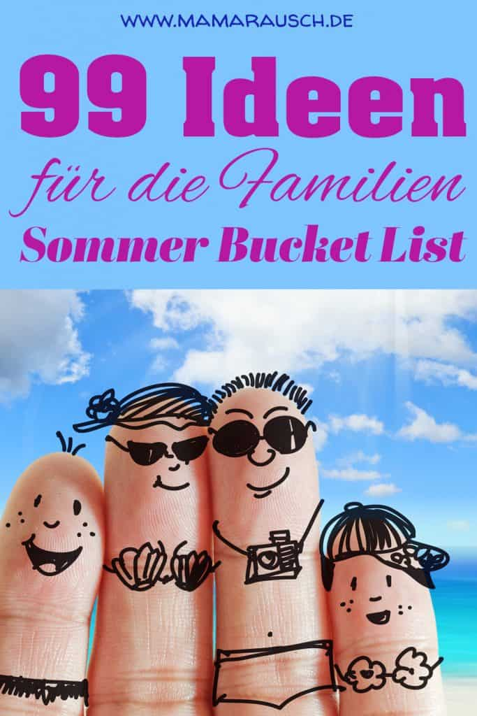 Sommer Bucket List 2021 |99 Ideen für die Sommer Bucket List
